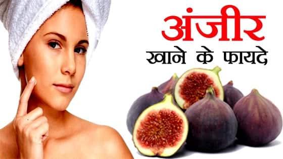 अंजीर खाने के स्वस्थवर्धक फायदे - HEALTHY BENEFITS OF ANJEER IN HINDI