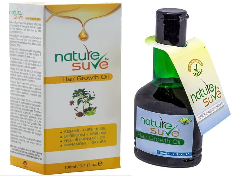 नेचर श्योर हेयर ऑयल के लाभ व लगाने का तरीका - Nature Sure Hair Growth Oil In Hindi